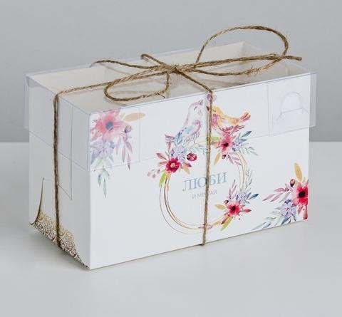 Коробка на 2 капкейка