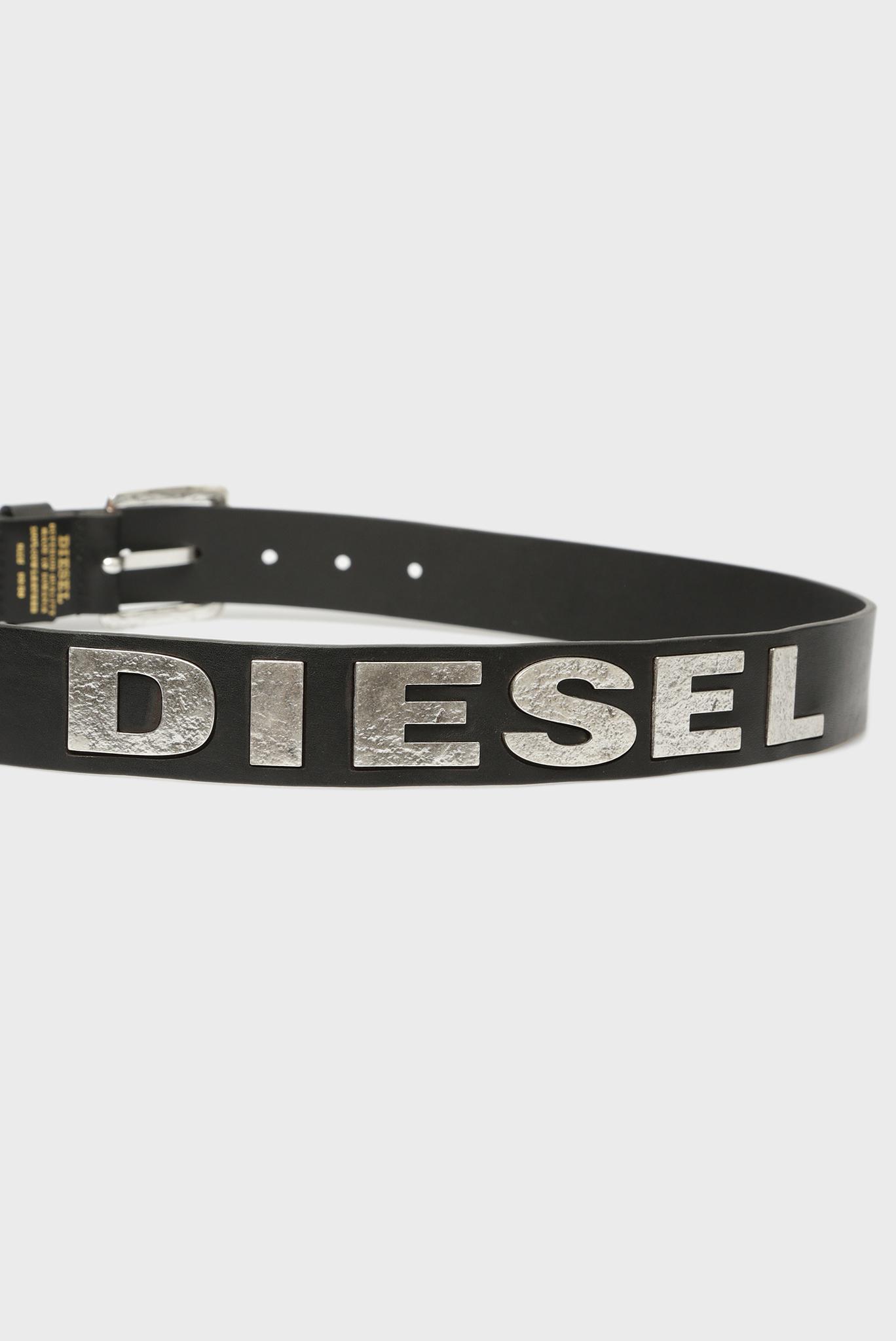 Черный кожаный ремень Diesel