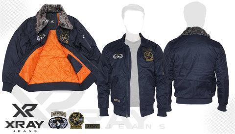 Куртка утепленная 'СWU 45/P Flyer With Patches' Navy