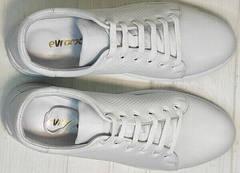 Белые женские кроссовки из натуральной кожи Evromoda 141-1511 White Leather.
