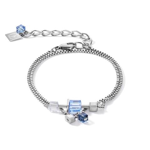 Браслет Crystals Silver-Blue 5066/30-0700 цвет голубой, серебряный