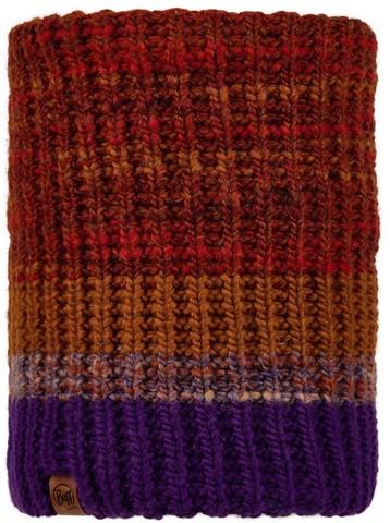 Вязаный шарф-труба с флисом Buff Neckwarmer Knitted Polar Alina Rusty фото 1