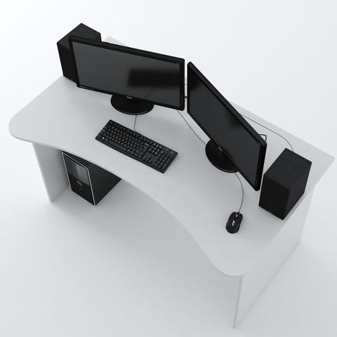 Стол Компьютерный SURF 1400 Белый