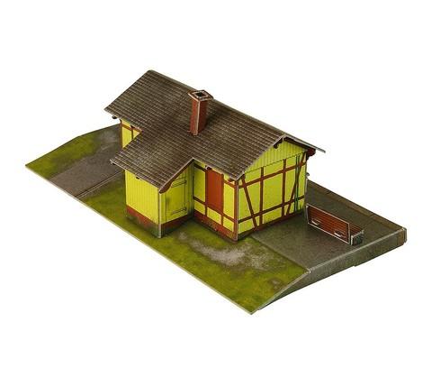 Станция Ауфхаузен. Сборная модель из картона