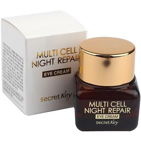 Ночной крем на фитостволовых клетках для кожи вокруг глаз Secret Key Multi Cell Night Repair Eye Cream