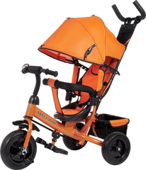 Детский трёхколёсный велосипед с ручкой (оранжевый) Sweet baby - колёса EVA