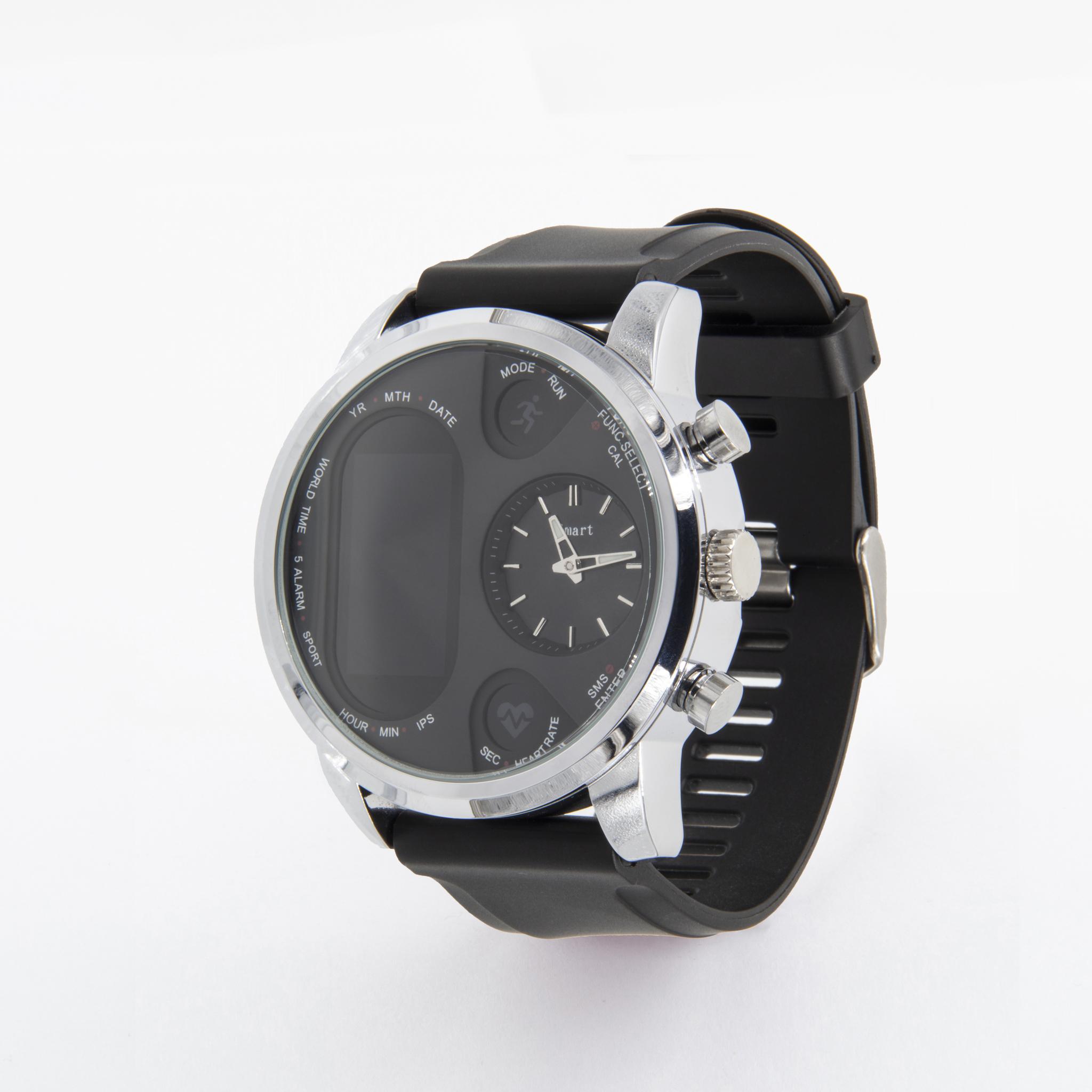 Имиджевые часы здоровья с механическими часами, оценкой давления, кислорода и автоматическим замером пульса Dr. Hofner DH99 (серебро)