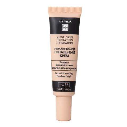 VITEX Тональный крем Увлажняющий NUDE SKIN HYDRATING FOUNDATION т.35 Dark beige