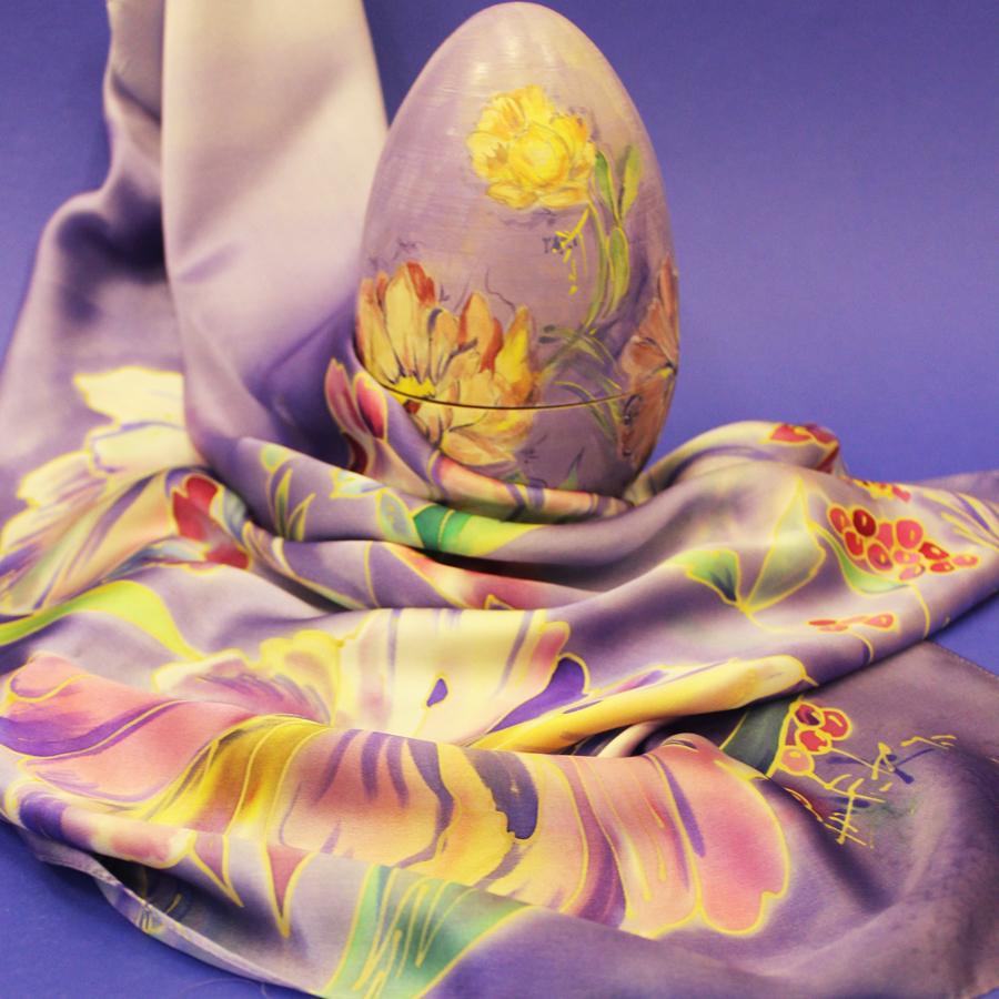 Яйцо-шкатулка пасхальное Сиреневый цвет