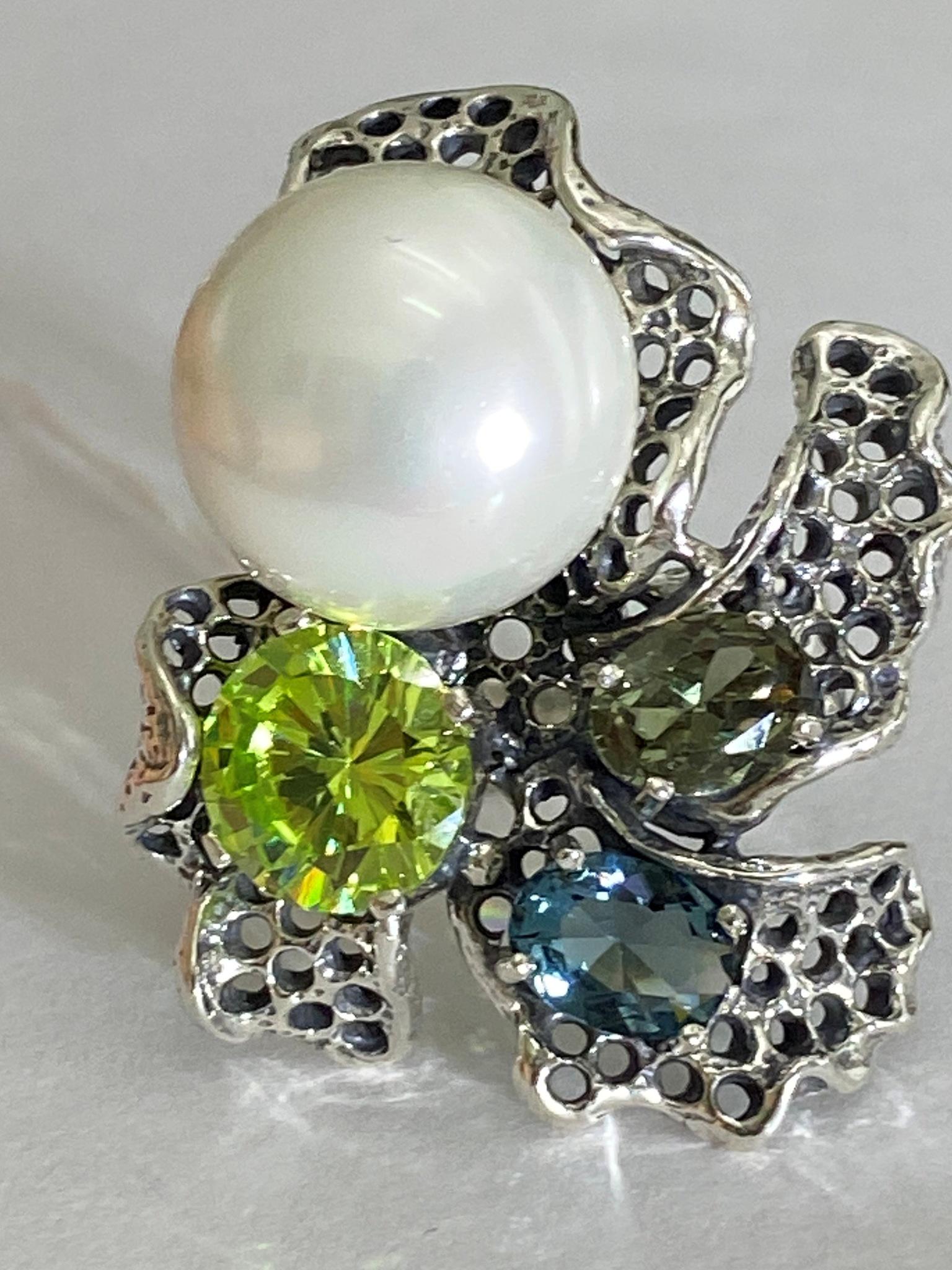 Орхидея (кольцо из серебра)