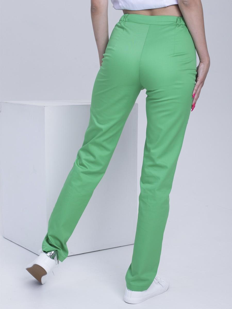 Медицинские брюки Б110 MEdiS.moda зеленый неон