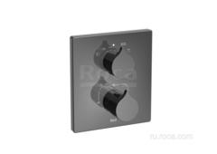 INSIGNIA Смеситель термостатический для ванны-душа скрытого монтажа (для установки с RocaBox A525869403), Titanium Black Roca 5A0C3ACN0 фото