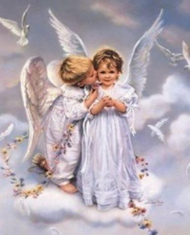 Алмазная Мозаика 40x50 Ангелы в облаках (арт. ТС3332 )