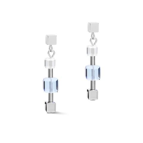 Серьги Crystals Silver-Blue 5066/21-0700  цвет голубой, серебряный