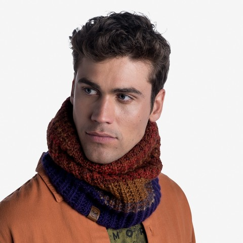 Вязаный шарф-труба с флисом Buff Neckwarmer Knitted Polar Alina Rusty фото 2