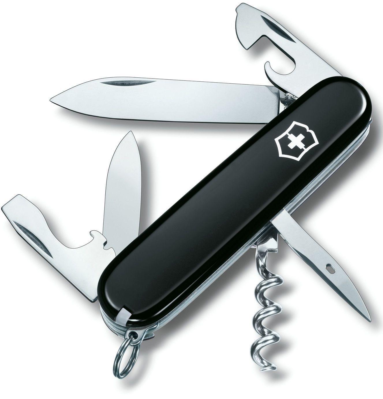 Складной нож Victorinox Spartan Black (1.3603.3B1) 91 мм., 12 функций, чёрный, в блистере - Wenger-Victorinox.Ru