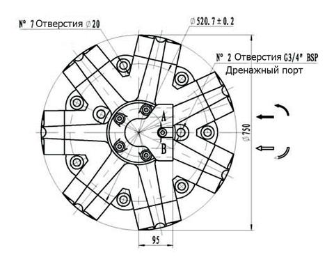Гидромотор IPM9-4000