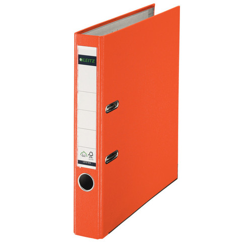 Папка-регистратор Leitz 180° 50 мм оранжевая