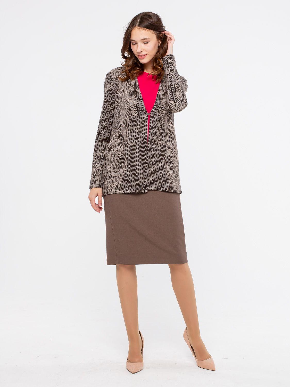 Юбка Б094-527 - Прямая юбка на подкладке.Застежка на молнию и пуговицу, сзади шлица. Плотная эластичная ткань. Модель полностью соответствует офисному дресс-коду.