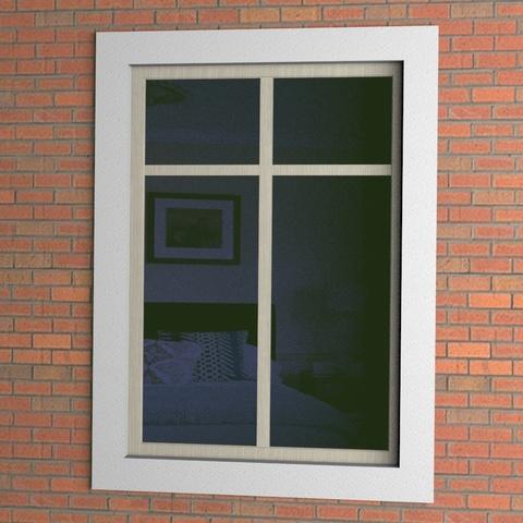 Отделка окна снаружи простым профилем
