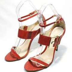 Красные босоножки на каблуке Via Uno1103-6605 Red.