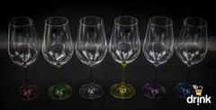 Набор из 6 цветных бокалов для вина Gastro Арлекино, 350 мл, фото 5