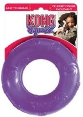 Игрушка для собак KONG Squeezz Кольцо d 16 см большое резиновое с пищалкой
