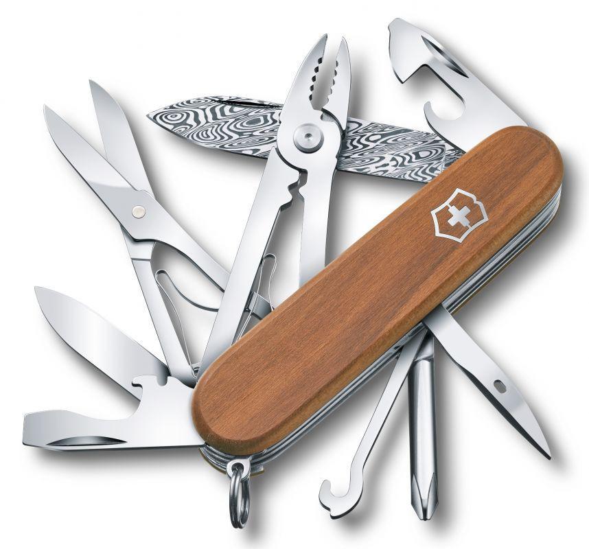 Складной коллекционный нож Victorinox Deluxe Tinker Damast Limited Edition 2018 (1.4721.J18) дамасская сталь, лимитированное издание - Wenger-Victorinox.Ru