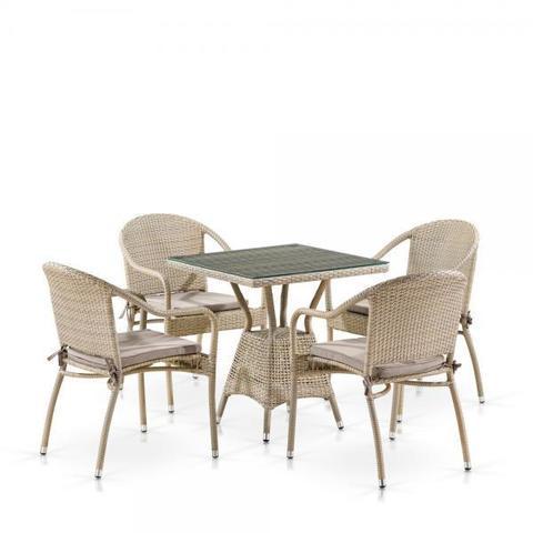 Комплект плетеной мебели T706/Y480C-W85 Latte (4+1)