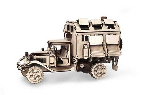 Грузовик ГАЗ-АА фургон Кунг от Леммо - Деревянный конструктор, сборная модель, 3D пазл