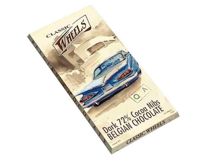 Горький шоколад Classic Wheels какао 72%, 100 г