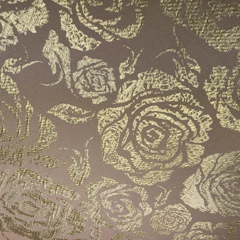Мерный лоскут 1,05 м жаккард розовый с золотыми розами 3213