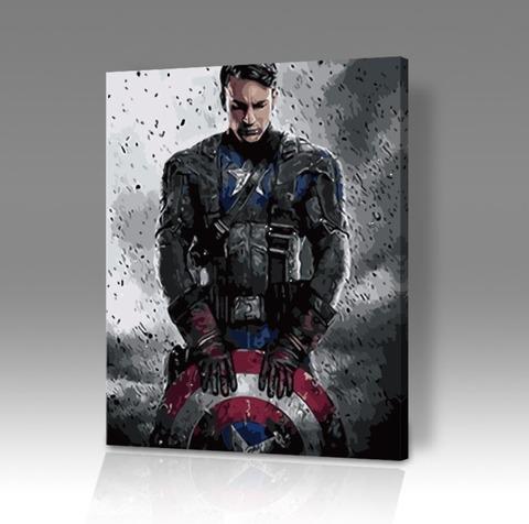 Картина по номерам на холсте Captain America, 40см*50см