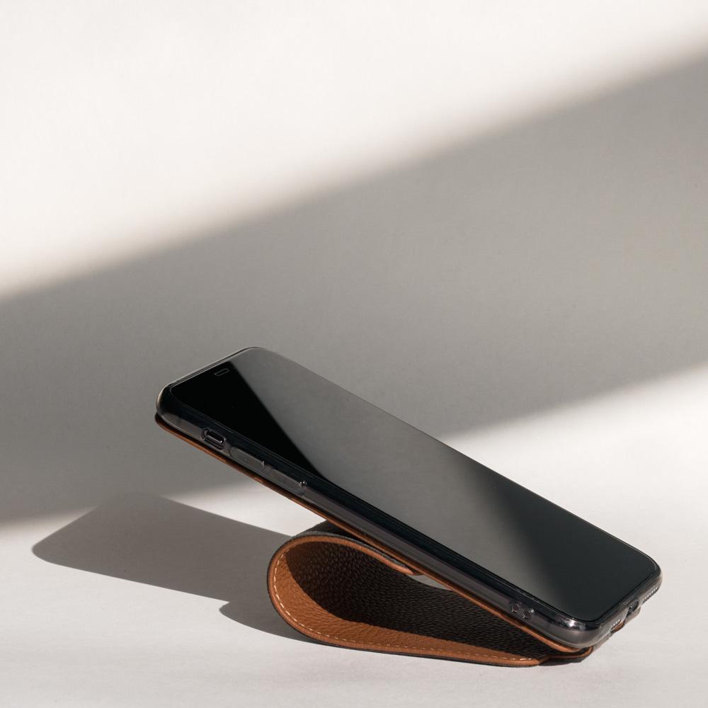 Чехол для iPhone 11 Pro из натуральной кожи теленка, цвета карамель