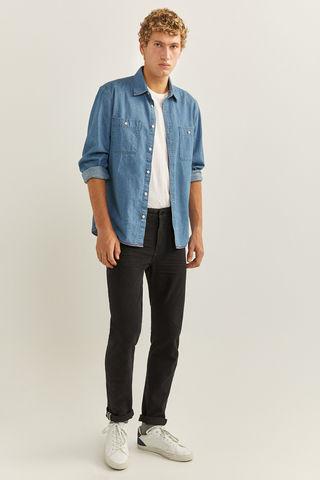 Чорні звужені джинси бі-стрейч