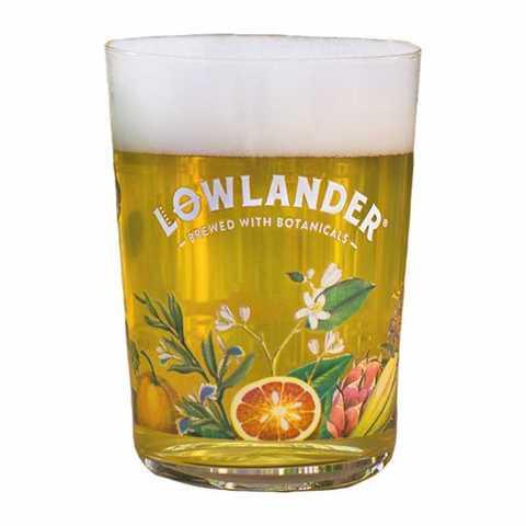 Набор из 6 бокалов для пива Lowlander (цветной принт), 330 мл