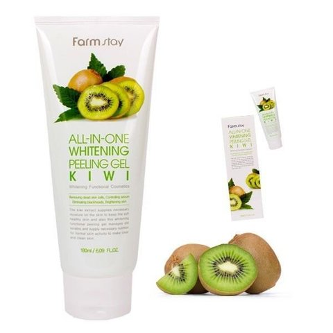 Farmstay Пилинг-гель с экстрактом киви All-In-One Whitening Peeling Gel Kiwi 180 мл