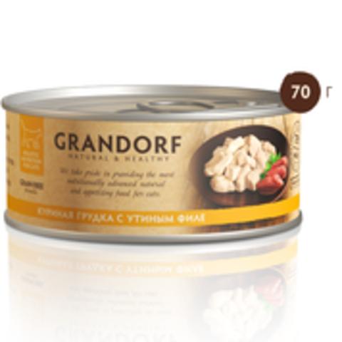 Grandorf куриная грудка с утиным филе в собственном соку 70г