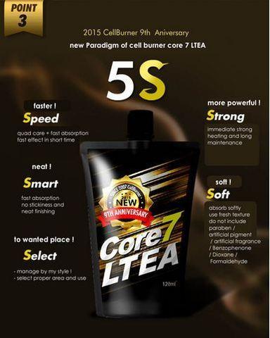 Крем для сжигания жира по всей длине ног и рук Cell Burner Core7 LTE (Yellow)