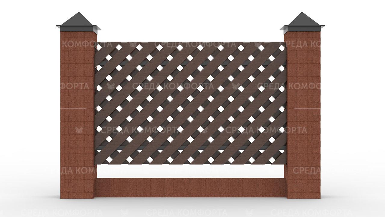 Деревянный забор ZBR0091