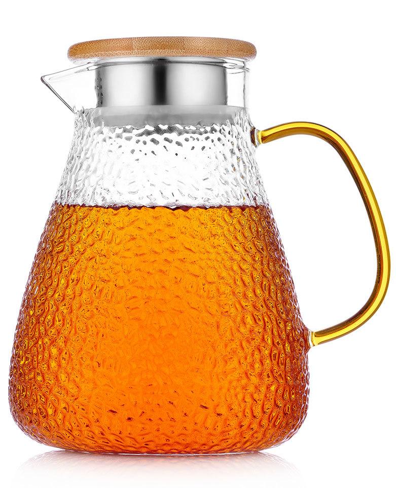 Кувшины, графины (для горячих и холодных напитков) Кувшин для воды стеклянный с крышкой фильтром с желтой ручкой, 1,5 л Kuvshin-dlya-vodi-4-007-1500-teastar.jpg