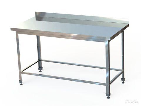 СПБ (по) -6-6  Стол производственный с бортом (600х600х870 мм.) (обвязка)