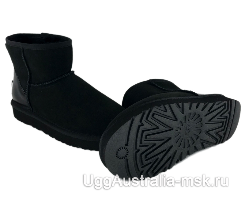 UGG Classic Mini II Metallic Driftwood Black