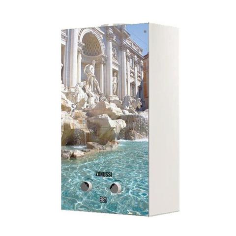 Водонагреватель газовый проточный Zanussi Fonte Glass GWH 10 (с изображением фонтана Треви)