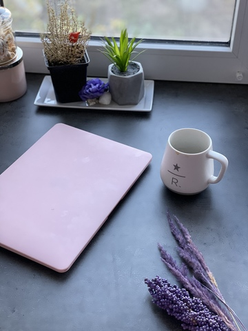 Накладка пластик MacBook Air 13.3 New /matte pink sand/ DDC