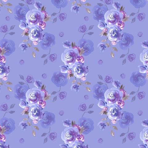 Фиолетовые розы. Акварель