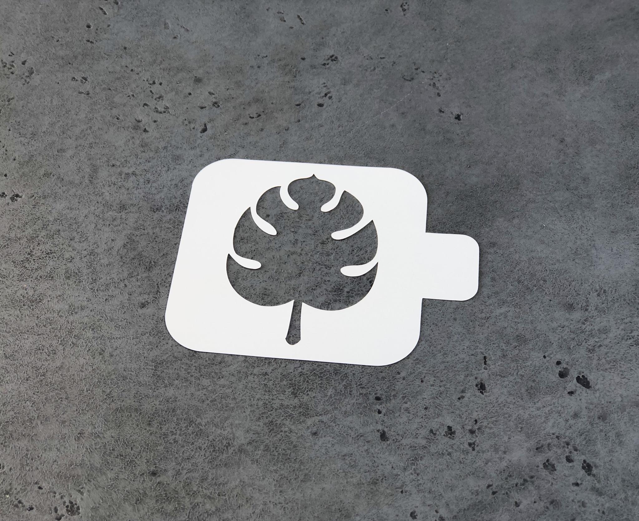 Трафарет пластик «Лист», 9х9 см