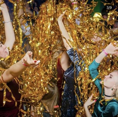 Бумажная дискотека золотая