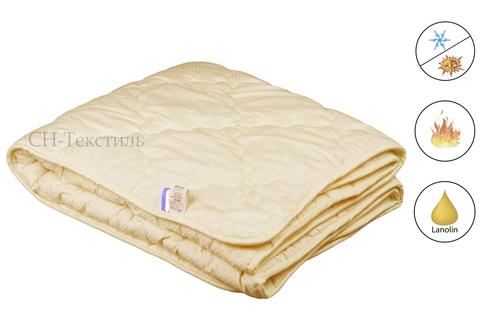 Одеяло Коллекции МОДЕРАТО  в сатине наполнитель овечья шерсть всесезонее