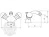 Смеситель для биде Korona Swarovski ML.KRN-4744 схема